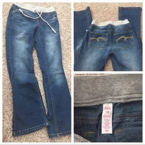 Justice size 10 boot cut stretch waist jeans